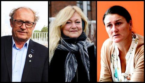 REAGERER KRAFTIG PÅ EPOST: Steinar Solum, Anne Rygh Pedersen og Lise Mandal står sammen i en uttalelse der de kaller eposten de har fått «et alvorlig angrep på demokratiet».