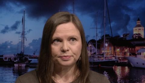 Leder Elisabeth Dahl i Sandnes kulturhus ble rikskjendis med Stavanger og Valbergtårnet som bakgrunn.