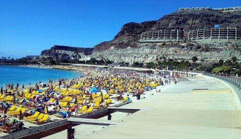 Mange nordmenn reiser til Gran Canaria i påsken.