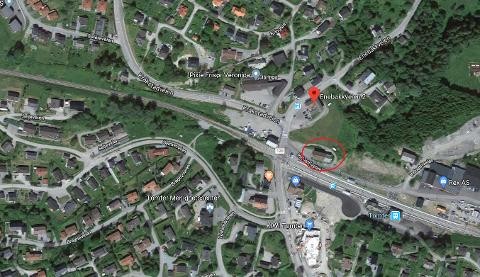 Galleri & Atelier art to be holder nå til i Enebakkveien. Tidligere holdt de til i Industriveien, markert med rød sirkel.