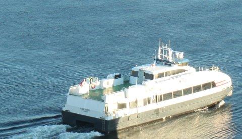 Hurtigbåttilbudet mellom Jørpeland og Stavanger kan bli lagt ned neste år. (Arkivfoto)