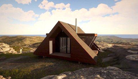IKKJE I ÅR: Det skal byggast fem dagsturhytter i Rogaland i år, men turgåarar i Hjelmeland må venta til neste år før dei kan besøka ei slik hytte på Fisterfjellet.