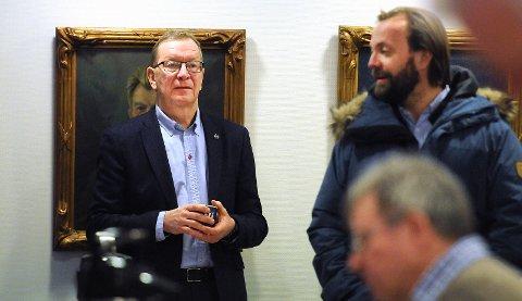 UTFORDRINGER: Trond Haukvik må snu et - sannsynligvis - stort underskudd for 2018 fram mot 2019-sesongen. Her på årsmøtet i februar i år. foto: ole martin møllerstad