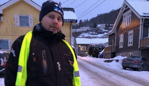 Lars Tuva Johansen (34) var tirsdag morgen med på å lete etter den savnede 11-åringen. Foto: Ellen Esborg