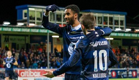 Amahl Pellegrino scoret tre mål mot Viking. Liridon Kalludra var nest sist på to av dem. Foto: Svein Ove Ekornesvåg, NTB Scanpix