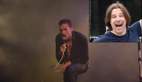Nå gjenforenes Tommy Reite (høyre hjørne) sammen med kompis Kristopher Schau i bandet The Dogs. Tommy er sååå glad - og det er nok Kristopher også.
