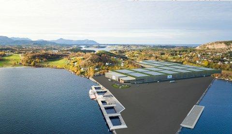 Her er en foreløpig skisse av anlegget.. Skissen er å finne i Averøy kommunes postliste.
