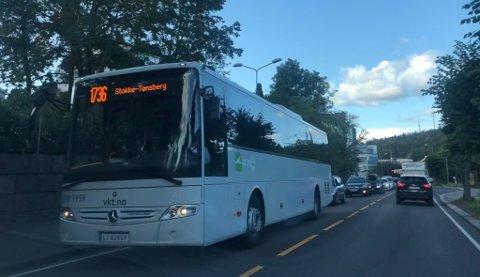 ØKNING: Flere har tatt buss denne uka sammenliknet med i fjor.