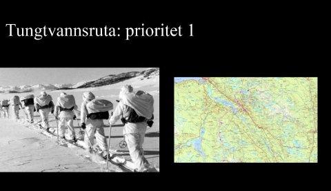 Sabotørene hadde tre overnattinger i Valdres. Nå foreslåes det å merke og tilrettelegge Tungtvannsruta gjennom Valdres.