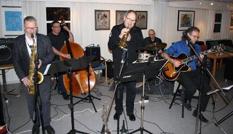 SLUNKENTPUBLIKUM: Erik Thormod Halvorsen Sextet på NIL-huset onsdag sist ukeder de ifølge jazzklubbens referent spilte for «ganske få» tilhørere.