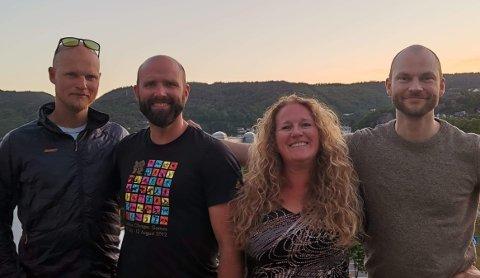 ARRANGØRENE:  Aksjonsgruppen «Nei til vindmøller i Flekkefjord» arrangerer paneldebatt i Spira 21. august. Initiativtagerne er fra venstre Frode Tesaker, Jostein Urstad, Monica Unhammer-Kristiansen og Dagfinn Norang.