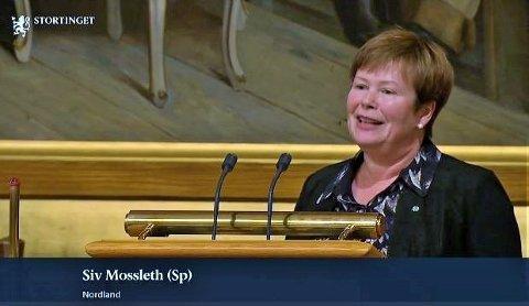 Misfornøyd: Siv Mossleth fra Saltdal likte dårlig det hun hørte i Stortingssalen fredag 18. oktober.