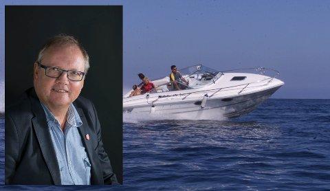 Jonny Gulbrandsen mener Ola Elvestuens (V) forslag om at alle fritidsbåter skal være elektriske innen 2030 er livsfarlig. Båten er illustrasjonsbilde.