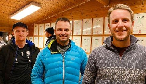 Vegard Nesse, Kim Henning Madland og Preben Andersen gjør seg klare for en ny sesong.