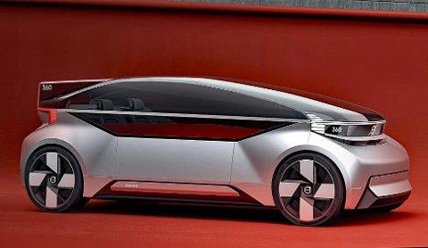 FUTURISTISK: I fjor viste Volvo oss sin fremtidsbil kalt 360. Den bringer med seg forsmak på mange nye teknologier.