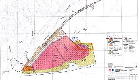 Plankart: En del av arealet Teigen eier er omfattet av området som er regulert til sykehus.