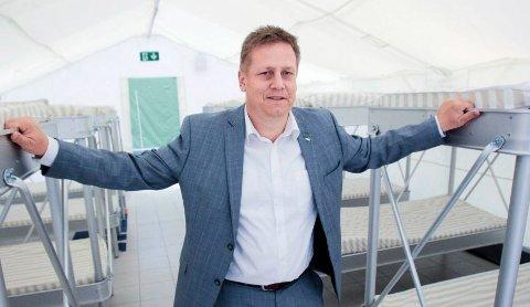 Klatrer: René Rafshol er ordfører i Råde og nå også fylkesleder i Høyre.