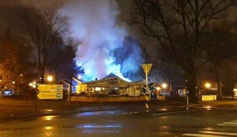 TJUKK RØK: Politiet utelukker ikke at brannen i toalettene ved Flora var påtent.
