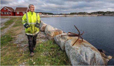 LEI: Harald Lorentzen har gitt opp utvidelse av båthavnen i Skjærhalden. – Jeg er dritt lei av å bli motarbeidet. Nå gidder jeg ikke mer, sier han.