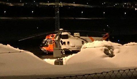 DØDE: Mannen i 20-årene ble sendt til Universitetssykehuset Nord-Norge (UNN) med Sea King-helikopter, men livet hans sto ikke til å redde. Foto: Øystein Solvang