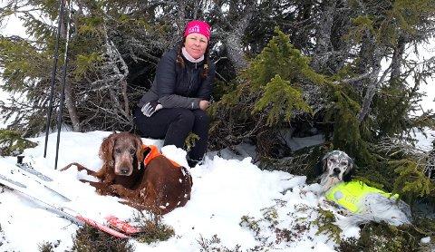 GIR IKKE OPP: Monica Aspeslåen, Lillehammer, fortsetter letingen etter hundene Torres og Trico som forsvant for tre uker siden.