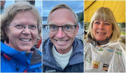 PUBLIKUM: F.v.: Betzy Ellingsen Tunold, Fredrik Ottesen og Hilde Bakkejord Westheim.