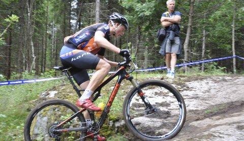 NM-SØLV: Eskil Evensen-Lie fra Kloppa Offroadklubb gjennomførte en solid konkurranse og syklet inn til sølvmedalje i NM i rundbane. Arkivfoto: Rune Pedersen