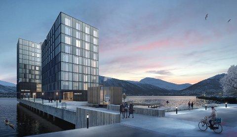 HAVET: Denne blokken kan bli Tromsøs nyeste tilskudd til studentboligfamilien, med et litt mer maritimt fokus enn naboblokka.