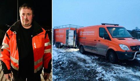 MYE Å GJØRE: Per Martin Klaussen i Harstad spyleservice sier at flere burde ta tak for å sikre at rørene ikke fryser.