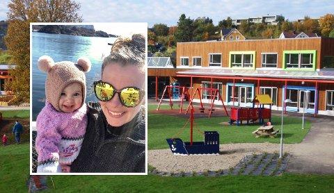START: Like over påske begynte Milja i barnehagen. Her sammen med mamma Stine Andrea Borgan.