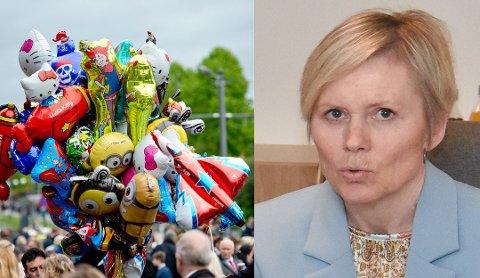 Det blir forbudt å selge og bruke heliumballonger på kommunal grunn. Men, det kan ikke nedfelles i politivedtektene, ifølge rådmann Inger Hegna.
