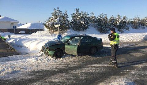 STADIGE SMELLER: 2. februar 2018 er et av eksemplene på når det gikk galt i krysset. Vel to uker etter denne ulykken, smalt det igjen.