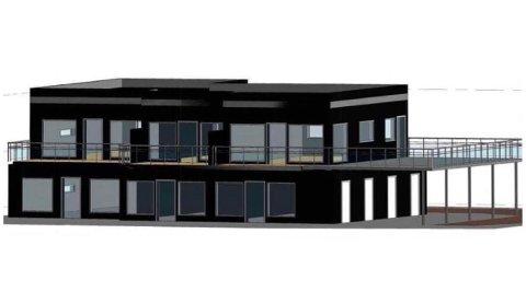 SKISSER: Slik ser Flott Eiendom AS for seg at den 263 kvadratmeter store firemannsboligen i Ringveien skal se ut. Foto: Fra søknaden