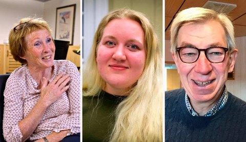 POLITIKERE: Fra venstre: Kari Anne Sand (Sp), Marte Ødegården (Ap) og Helge Evju er alle glade for tingretten består.