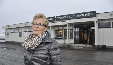 Dårlig informasjon: Kirsti Horn Teigen fikk dårlig informasjon, da sisteflyet fra Bodø til Svolvær ble innstilt.Foto: Kristian Rothlie