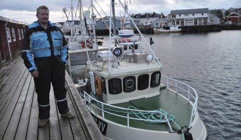 Sjarkfisker: Etter å ha jobbet i olja i seks år blir nå Tommy Thomassen sjarkfisker på heltid. – Det er overhodet ikke noe nederlag å gå tilbake i fiskebåten, slår Thomassen fast. Alle foto: Kai Nikolaisen