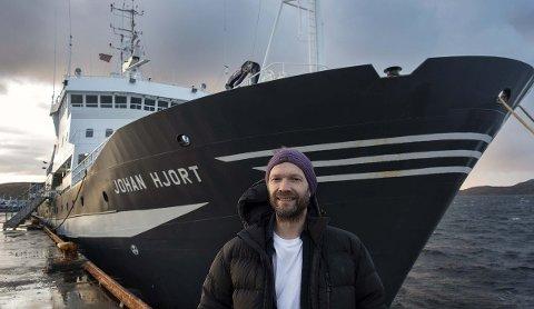 PÅ TOKT. Toktleder Georg Skaret forteller om gode registreringer av torsk og hyse under årets økosystemtokt. Samtidig fant forskerne lite lodde.