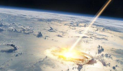 KATASTROFE: Om en asteroide treffer jorden, kan det få katastrofale konsekvenser. Dette har nå NASA utført et eksperiment på.