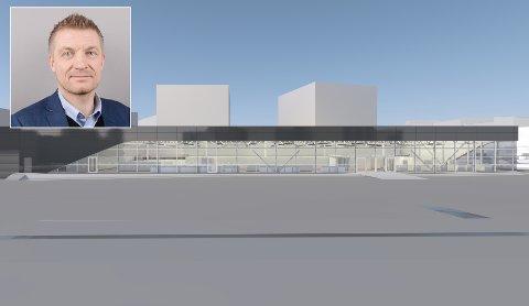 SATSER: Administrerende direktør i Norgesgruppen nord, Ola Svendsen, skal etter planen åpne dørene til en ny Eurospar-butikk på Strandvegen i april neste år.