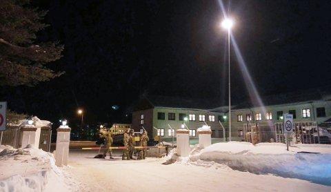 LEIR I SORG: Det ble avholdt minnestund i Skjold leir tirsdag. Bildet er tatt tidligere i vinter. Foto Herman Henriksen