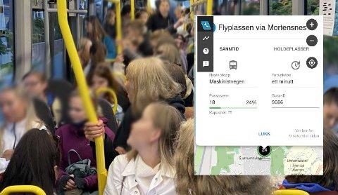 LEDIG KAPASITET: På sanntidskartet til tromsreise.no kan man nå se om bussen har ledig kapasitet.