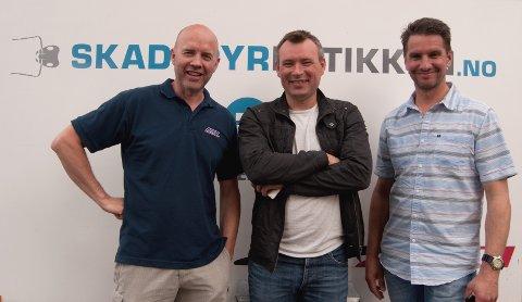 Eierne av Aktiv Skadedyrkontroll. Fra venstre Geir Jæger, Tom Arild Jensen og Trond Stormo.