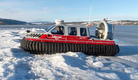 Svevebåt: Dette fartøyet var på Gjøvik ei uke i mars i fjor, der fire piloter ble kurset i bruken.