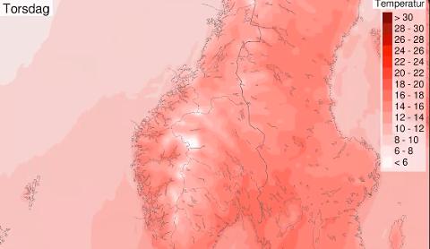 VARMT: Fra og med torsdag kan vi få opp til 25 grader i Vestoppland. – Nyt sola, sier meteorolog Marit Berger.