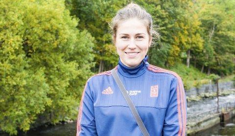 Motivert: Alina Wojtas trener seg tilbake etter korsbåndskade for å bidra for Larvik HK.Foto: Torgrim Skogheim