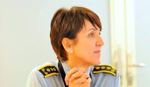 HEKTISK: Annie Sandersen og politiet har hatt det hektisk i juleperioden.