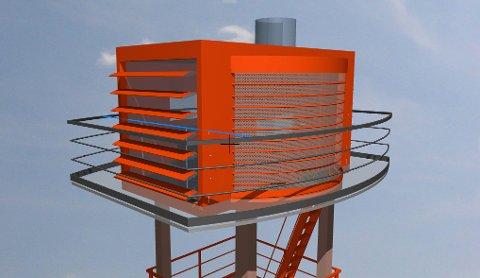 NYTT TÅRN: Skogselskapet mener det er på tide å bytte ut tårnet på Linnekleppen. Slik ønsker de at det skal se ut.