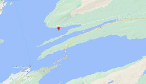 Uhellet skjedde innerst i Ulvangen i Leirfjord.