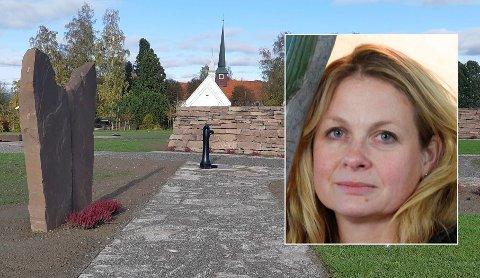 STOLT: – Jeg må innrømme at jeg blir ganske stolt når jeg ser hvordan det blir på kirkegården, sier Julie Ulven. Her er barnelunden.