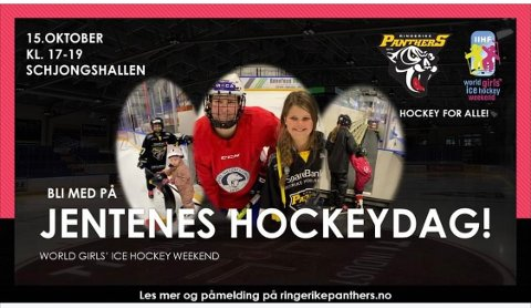 Velkommen til jentekveld i hockeyhallen.